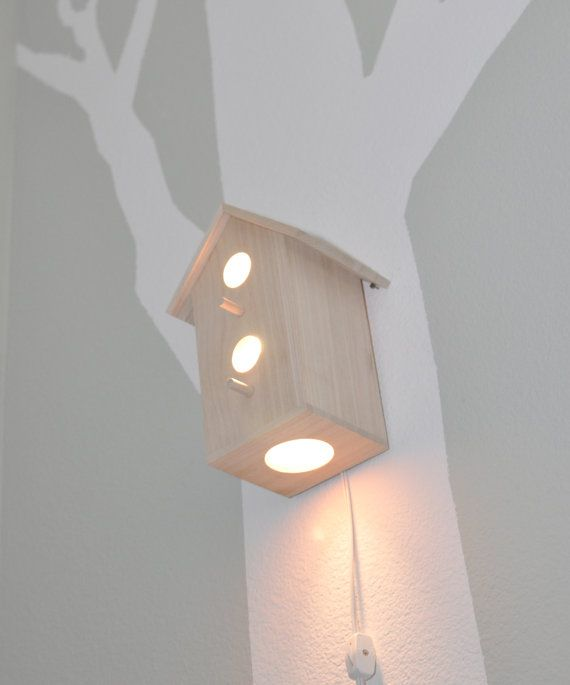 Cute light idea for the nursery--my friend is going with a bird theme for her nursery, this would be super cute!
