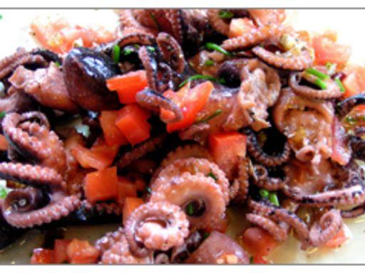 Salade de poulpes Grecque Mmmmmm
