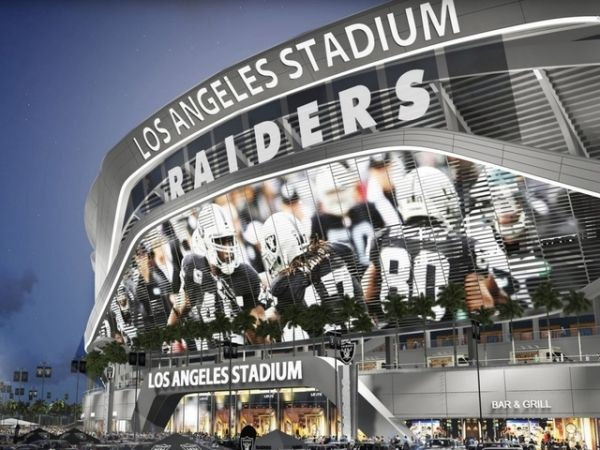A rendering of the Raiders move to Los Angeles. Description from sportsworldnews.com. I searched for this on bing.com/images