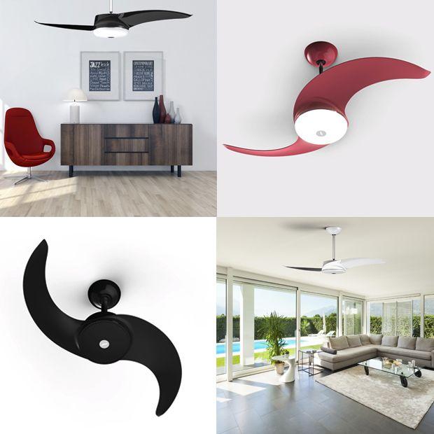 Novos ventiladores de teto coloridos da Latina: com 3 opções de cores (branco, preto ou vermelho – Marsala);
