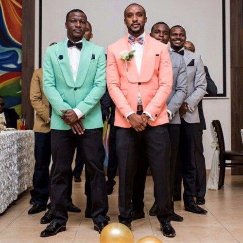 >> Click to Buy << New Arrival Designs Mint Green Pink Tuxedo Wedding Suits Slim Fit Men Suit Custom 2 Piece Groomsmen Prom Blazer Terno Masculino #Affiliate