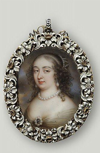 Marguerite de Lorraine, duchesse d'Orleans (1615-1672), 17th C by Jean Petitot