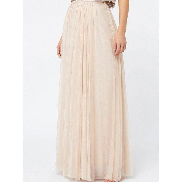 Monsoon Florette Tulle Maxi Skirt ($115) ❤ liked on Polyvore featuring skirts, pleated maxi skirts, long pink tulle skirt, long pleated skirt, maxi skirt and long pleated maxi skirt