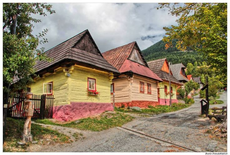 Vlkolínec - listed as a UNESCO World Heritage site since 1993 Slovak traditional architecture