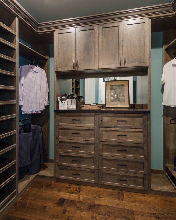 This Menu0027s Dressing Room In Walnut Has Everything A Man Could Want In A  Closet: Drawers For Accessories, Ample Hanging Space For Suits And Pants  And Shoe ...