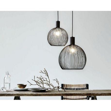 eclairage s jour suspension aver d40 cm noir. Black Bedroom Furniture Sets. Home Design Ideas