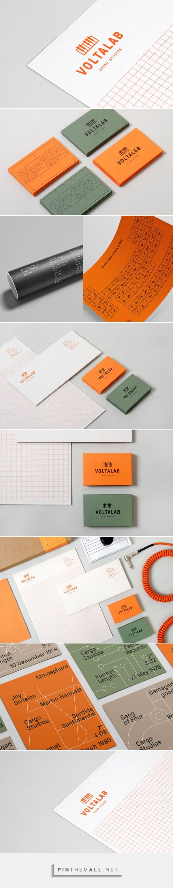 FPO: Voltalab Sound Studios Identity Materials - created via…