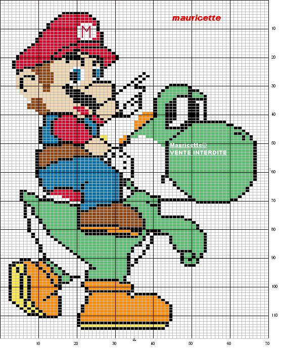 Super Mario pattern by Mauricette
