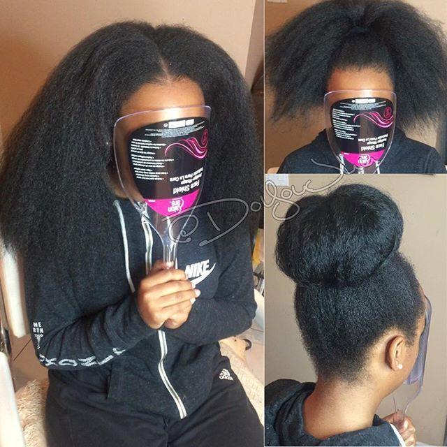 Vixen Crochet braids Done w/ 2pks of Definition Braid Hair #1b ...