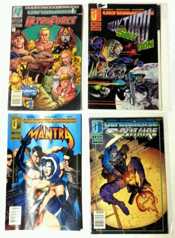 Malibu Comics Ultraverse Lot of 4 ~ SOLITAIRE 1 Mantra Ultraforce Break-Thru
