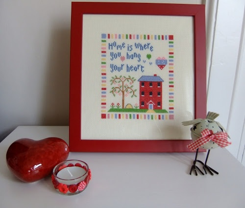 Ladybird Diaries: Cross Stitch home is where you hang your heart
