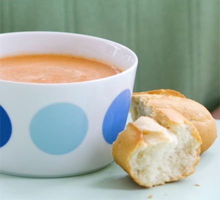 Creamy tomato soup is the stuff of childhood, and it's easy to make yourself. Emma Lewis shows you how