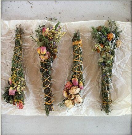 wildflower smudgesticks/botanicals folklorica for beltane fire cleansing and kindling