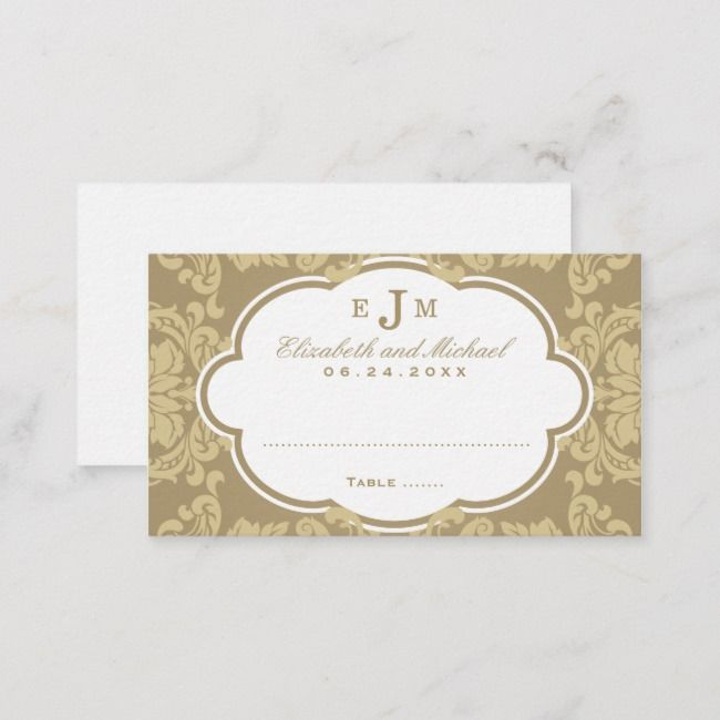 Create Your Own Flat Place Card Zazzle Com Wedding Place Cards Hollywood Glamour Wedding Wedding Places