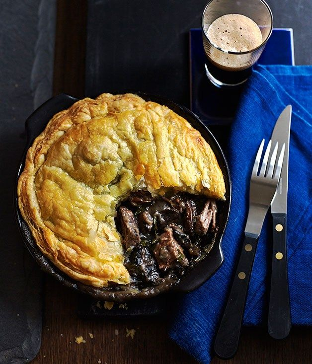 Beef brisket and mushroom pot pies recipe | Tomah Gardens | Sean Moran - Gourmet Traveller