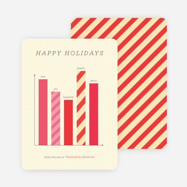 Bar Graph holiday card - that's so clever!