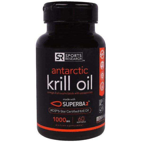 sports-fitness-athletic: Sports Research, Antarctic Krill Oil, 1000 mg, 60 ...