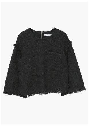 MANGO OUTLET Tweed top