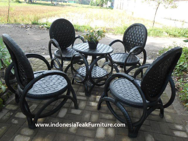Recycled Tire Furniture Reuse Rubber Tires Furniture from Java Bali Indonesia Yogyakarta