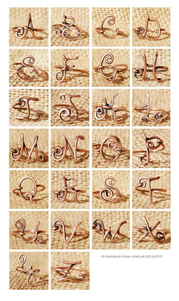 Initial rings. Cute.