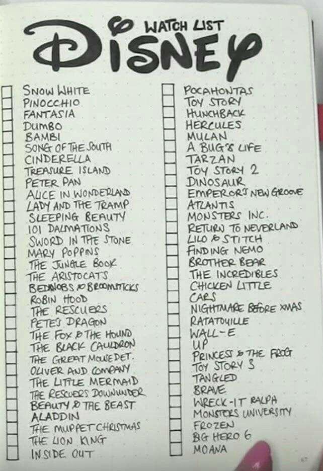 Liste Disneyfilme