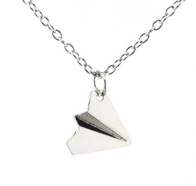 Paper Airplane Paper plane Necklace One Direction Harry Styles Unique Jewellery