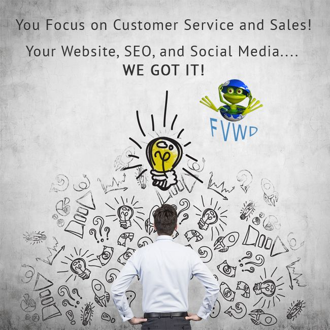 You focus on #customer service and sales. Your #website, #seo, and #social media..... We Got it!