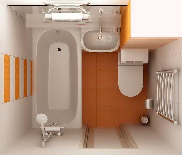 Дизайн маленького санузла 8