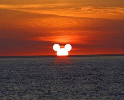 I imagine this is what a sunset looks like from the deck of a Disney cruise ship. :)