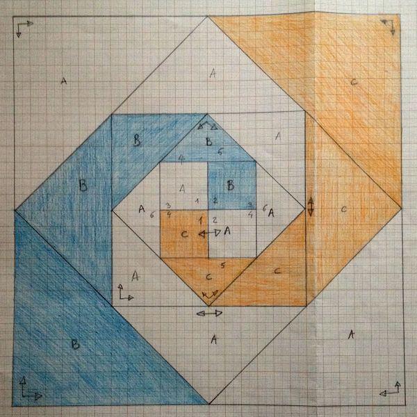 Indiana puzzle esquema. Curso gratuito de patchwork