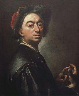 Petr Brandl - Vlastní podobizna s gestem počítání na prstech (kolem 1725, NG Praha)