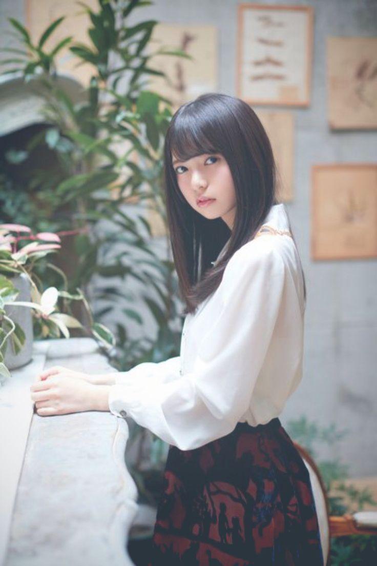 Beautiful japanese girl photo bookmark