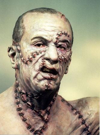MARY SHELLEY'S FRANKENSTEIN (1994) - Robert De Niro as 'The Monster' - Based on novel by Mary Shelley - Directed by Kenneth Branagh - TriStar Pictures - Publicity Still.