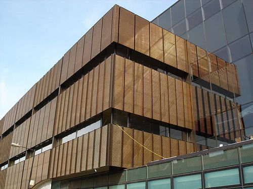 Queen Mary Innovation Centre Eyetech Bronze Mesh Facade