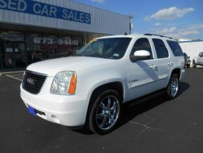 2007 GMC Yukon 2WD 4dr 1500 Price	Call for Price   Body Style	4-Door	SUV Mileage	171,914 Engine	8 Cylinder Engine	Gasoline Transmission	Steering column, Tilt-Wheel, adjustable with brake/transmission shift interlock Drivetrain	Rear wheel drive Ext. Color	White Int. Color	Black Stock Number	125186 VIN	1GKFC13JX7J125186 #abileneusedcarsales #abilene #texas #cars