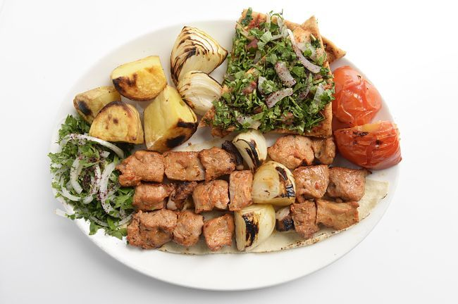 Most Lebanese dishes include healthy vegetables and salads. Reducing the amount of meat and the rich sauces can help to reduce the calories in the meal