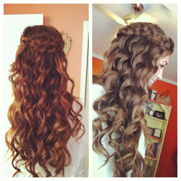 Love the braided half-up half-down look!