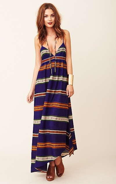 Mara Hoffman  Knotted Slide Dress: Sliding Dresses, Hair Colors, Style, Clothing, Stripes Blue, Maxis, Planets Blue, Blue Maxi Dresses, The Dresses