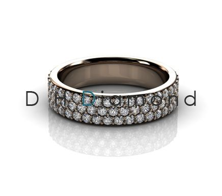 Micro Pave Setting Round Diamond Eternity Band with Natural Diamonds VVS-EF, 14K White Gold or Yellow or Rose. USD 1630.(IND Rs. 1,07,600/-)