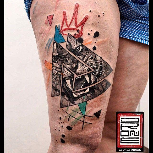 les tatouages de george drone un style tr s graphique tatouages divers tatouage tatoo et. Black Bedroom Furniture Sets. Home Design Ideas