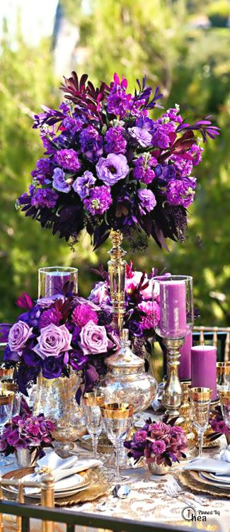 Wedding Tablescape ● Floral Centerpiece
