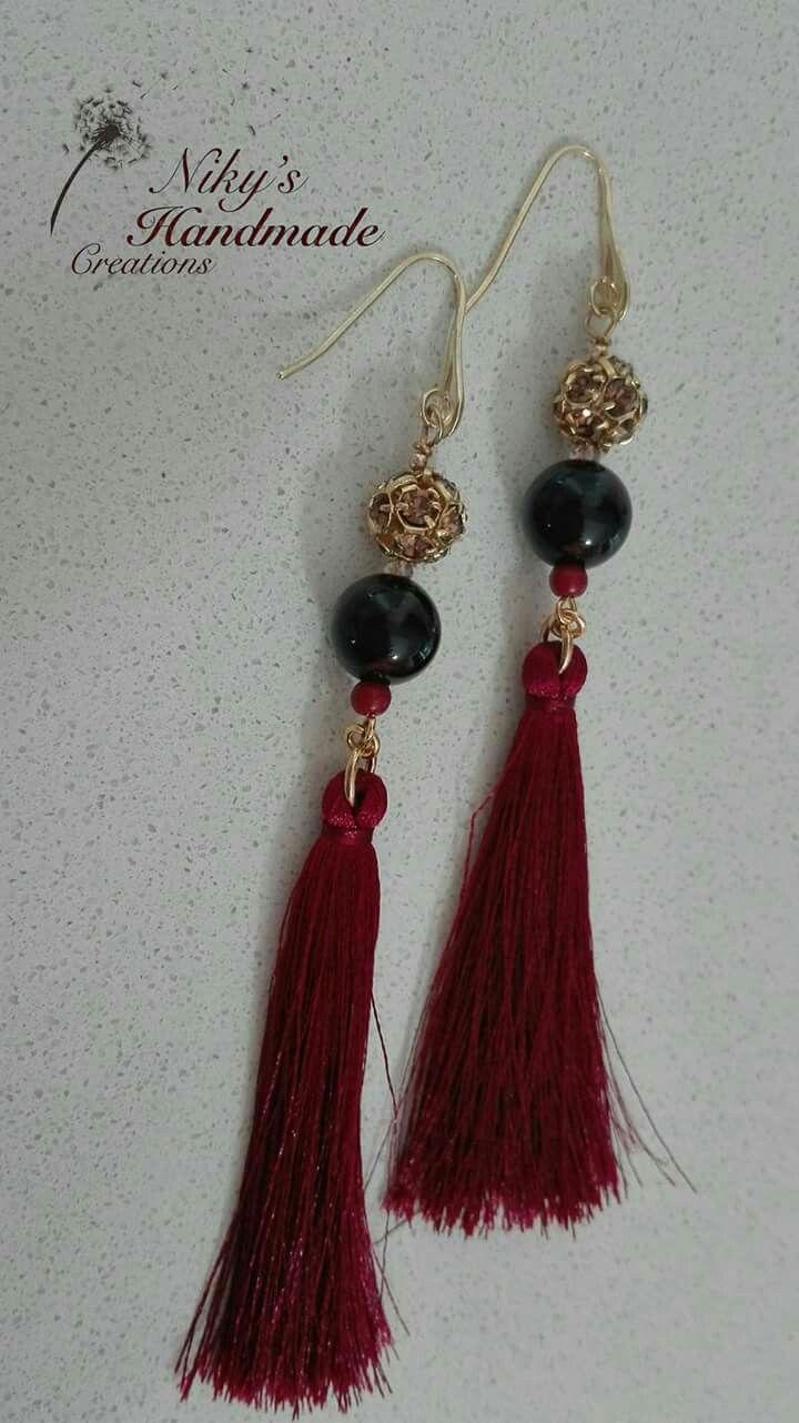 "Earrings tassels""Niky's handmade creations"""