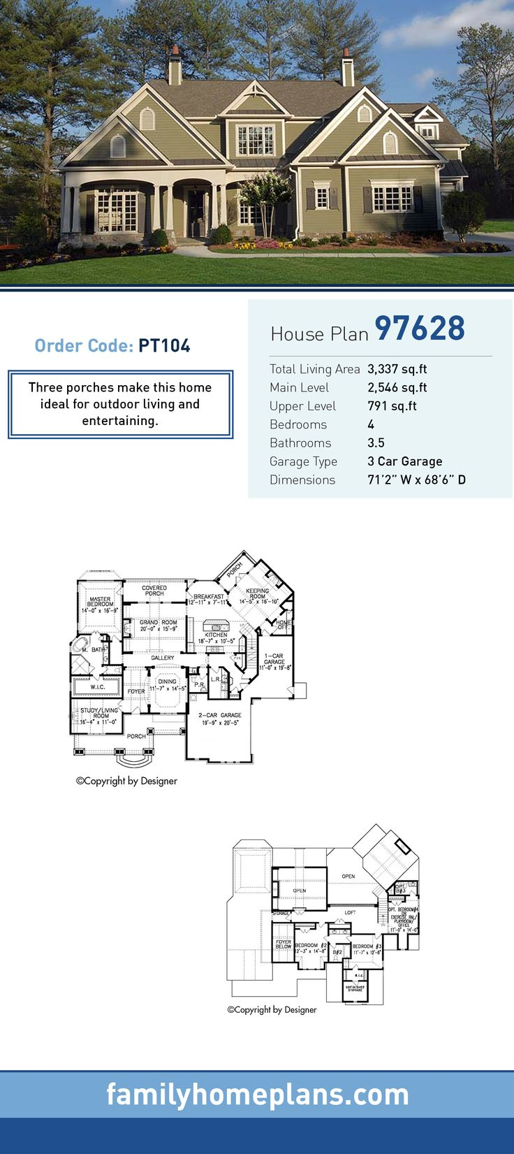 Cottage Traditional House Plan 97628 56 best