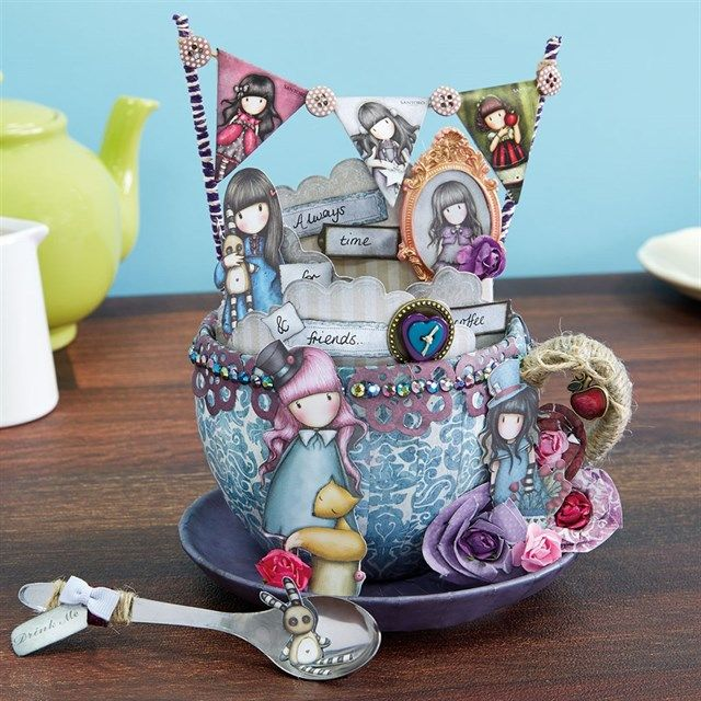 Santoro's Gorjuss Decorative Coffee Cup Tutorial