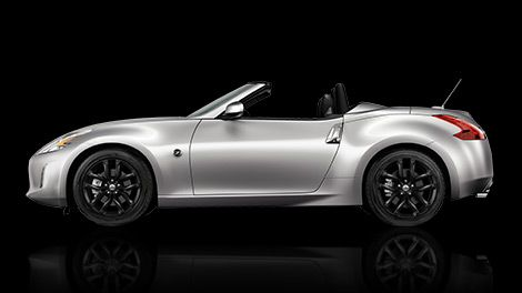 2016 Nissan 370Z Roadster sports car side view shown in Brilliant Silver
