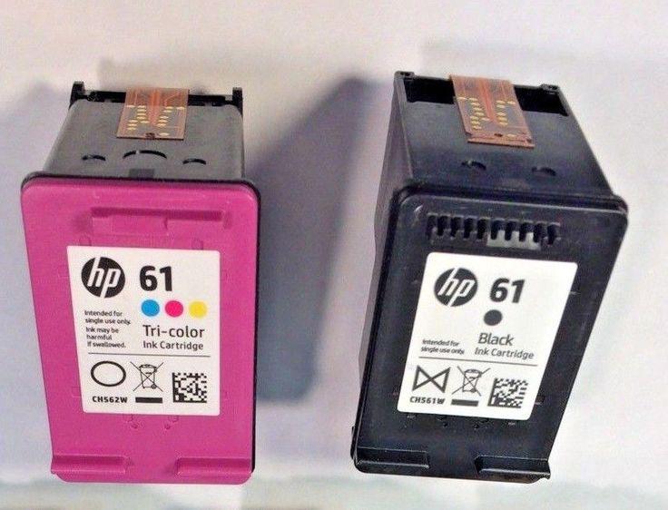 2 EMPTY GENUINE HEWLETT PACKARD INK CARTRIDGES HP61XL Black & HP61 COLOR #HEWLETTPACKARDHP61XLHP61