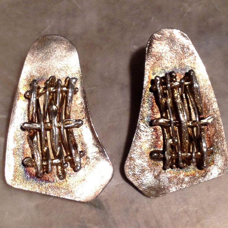 #Earrings, #Jewelry, #Vintage Vintage Avi Sofer Israel Sterling Silver Earrings by RareBeauty - http://www.judaic-jewelry.com/earrings/vintage-avi-sofer-israel-sterling-silver-earrings-by-rarebeauty.html