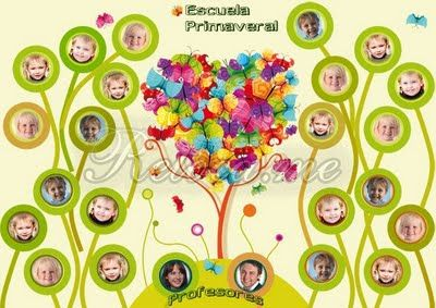 Diseño Gráfico Retoca.me: Orla Infantil Personalizada Primaveral