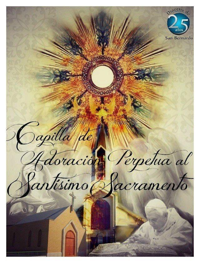 Afiche capilla de adoración
