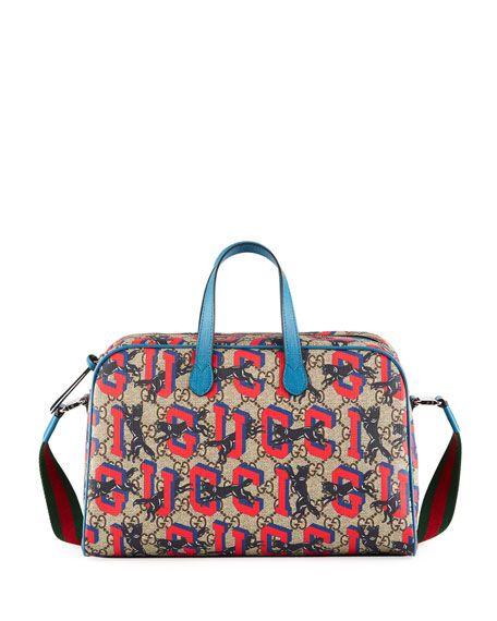 d96297a5b991 Kids' Wolves-Print GG Supreme Shoulder Bag Gucci   Organise your ...